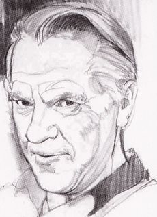 Portrait of Curt Swan by Stan Drake