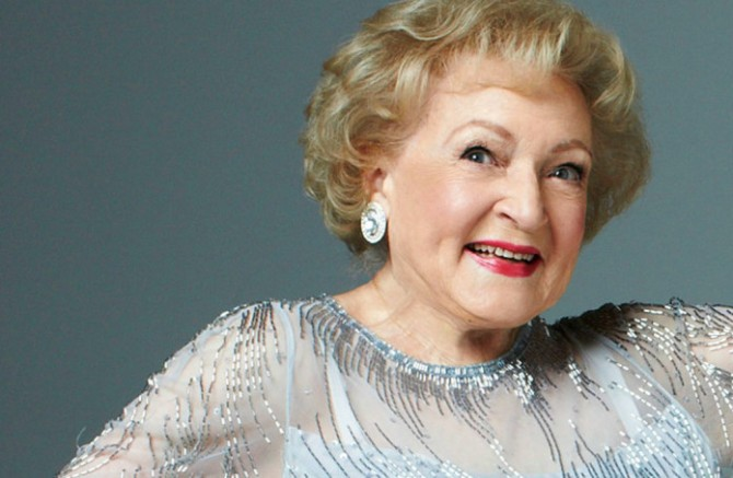Betty White on her 95th birthday